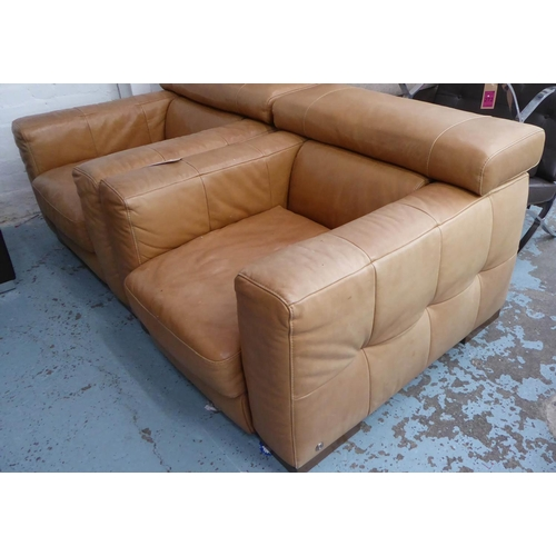 3 - NATUZZI NICOLAUS ARMCHAIRS, a pair, 94cm W approx. (3) (with faults)