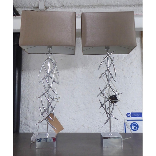 8 - R V ASTLEY ARLETA TABLE LAMPS, a pair, with shades, 86cm H. (2)
