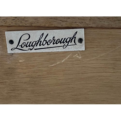 99 - LOUGHBOROUGH CHEST, 1960's English, teak and brass inset with three short and three long drawers, 92...