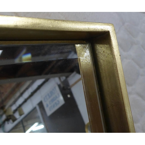 47 - DRESSING MIRRORS, a pair, 1960's French style, gilt frames, stand at 145cm H. (2)