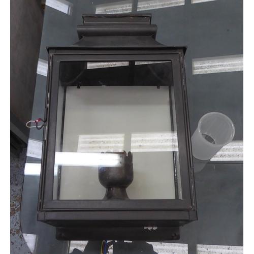 73 - VAUGHAN VALENCAY WALL LANTERN, 50cm x 27cm x 17cm.