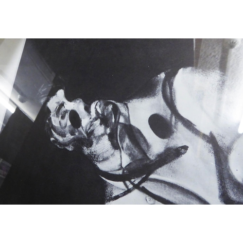 69 - FRANCIS BACON 'Study for a Portrait' and 'Personnage Couché', monochromes, each 37cm x 27cm, framed ...