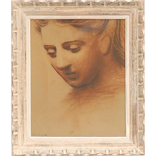 103 - PABLO PICASSO 'Tête de Jeune Femme', 1948, off set lithograph, signed in the plate, 48cm x 40cm, fra...