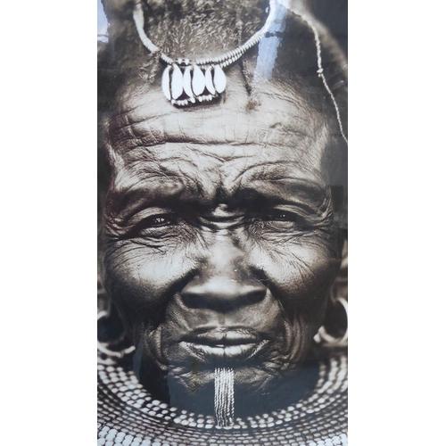 7 - CONTEMPORARY SCHOOL, portrait of an African gentleman, framed, 144.5cm x 104.5cm.