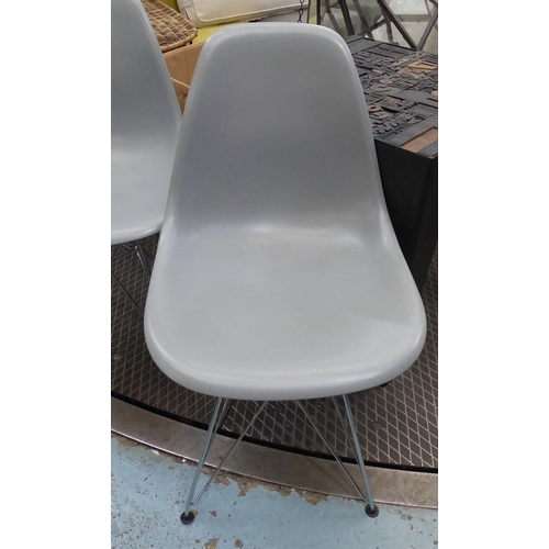 13 - AFTER CHARLES & RAY EAMES DSR STYLE DINING CHAIRS, a set of eight, 82cm H. (8) (slight faults)...
