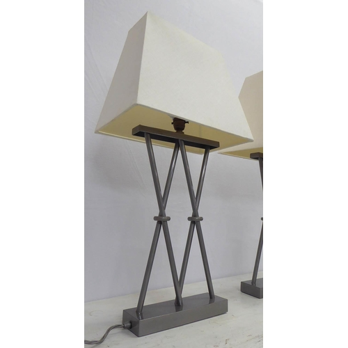 11 - JIM LAWRENCE WANDSWORTH TABLE LAMPS, a pair, each with a shade, 70cm H. (2)...