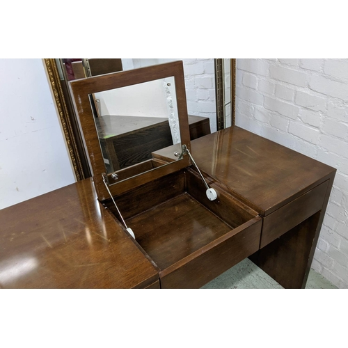 64 - VANITY TABLE, contemporary design, with central lift up mirrored section, 120cm x 55cm x 115cm opene...
