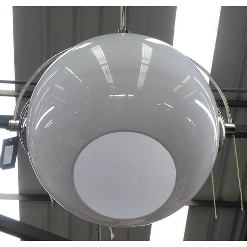 72 - PURE WHITE LINES LUNAR CEILING PENDANT LIGHTS, a set of three, 65cm diam. (3)...