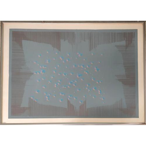 70 - ALFRED DUNN (ARCA b1937), 'Butterflies blue', screen print, 71cm x 93cm, framed....