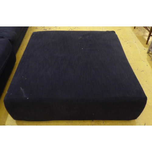 48 - CAMERICH CORNER SOFA, black fabric finish, 320cm x 204cm x 57cm approx....