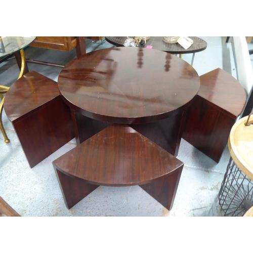 49 - RALPH LAUREN HOME DUKE COCKTAIL TABLE, nesting set of five, 102cm diam x 52cm. (5)