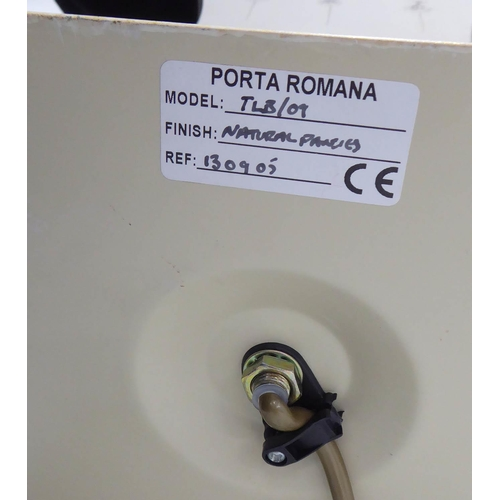 46 - PORTA ROMANA NATURAL PANSIES TABLE LAMP, with shade, 60cm H....