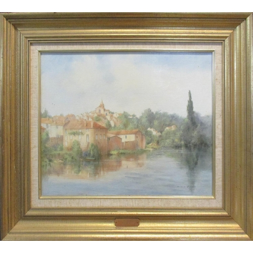 DIANA BOWEN 'Availles Limouzine, France', oil on canvas, signed lower right, 35cm x 45cm, framed.