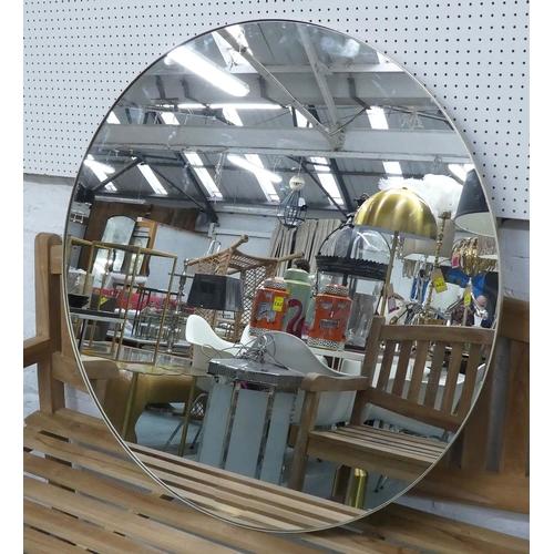 CIRCULAR MIRROR, contemporary design, gilt frame, 100cm Diam.