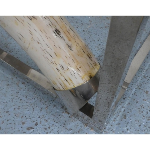 6 - ANTHONY REDMILE INSPIRED LOW TABLE, faux tusk detail, 150cm W x 41cm H x 96cm D.