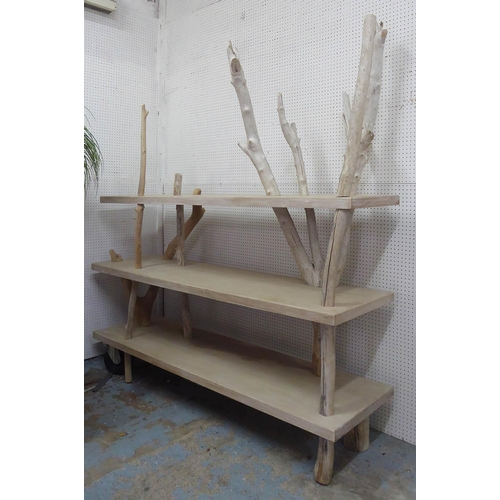 18 - WALTER CASTELLAZZO DRIFTWOOD COLLECTION  ETAGERE, made with wood found on Inch Beach, Dingle Peninsu...