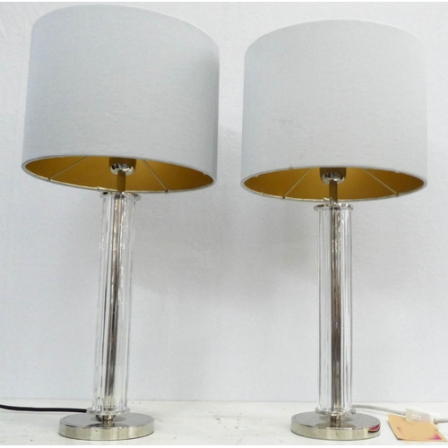 3 - BEST & LLOYD BOSTON TABLE LAMPS, a pair, with shades, 56cm H. (2)