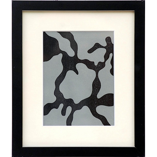 JEAN HANS ARP 'Relief', woodcut in two colours on velin paper, edition 1500, ref XXE siecle, 20cm x 15cm, framed and glazed.