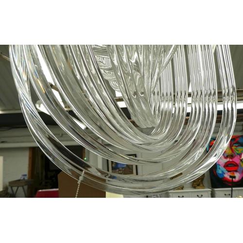 11 - CEILING PENDANT LIGHT, Art Deco style, 80cm Drop.