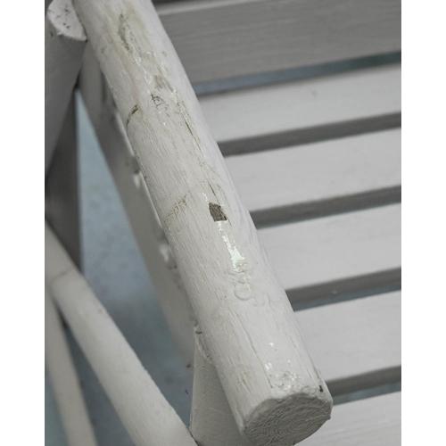 29 - RUSTIC GARDEN BENCH, matching previous lot, 122cm W.