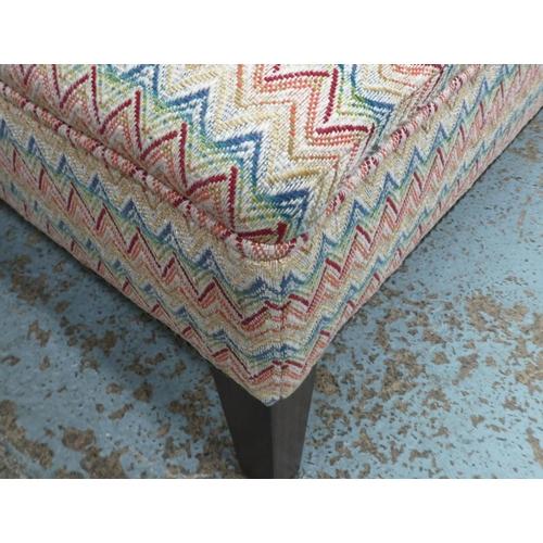 39 - DAVID SEYFRIED FOOTSTOOL, in a GP & J Baker fabric, 40cm x 93cm x 46cm H.