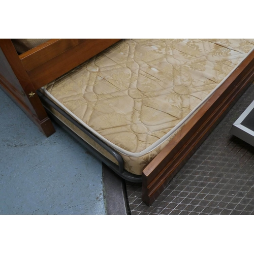 5 - SIMON HORN TRUNDLE BED, empire style, 199cm x 89cm x 90cm. (with faults)