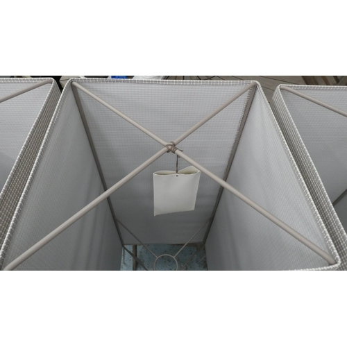 32 - KETTAL FILA OBJECTS FLOOR SHADES, a set of three, by Michel Charlot, each 41cm x 41cm x 135cm. (3)