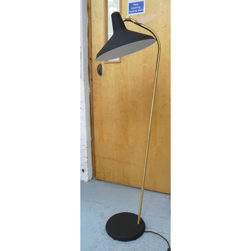 33 - AFTER GRETA M GROSSMAN GIO STYLE FLOOR LAMP, 142cm H.
