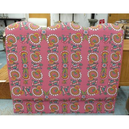 37 - DAVID SEYFRIED HEADBOARD, in an Anna Spiro floral fabric, approx 137cm.