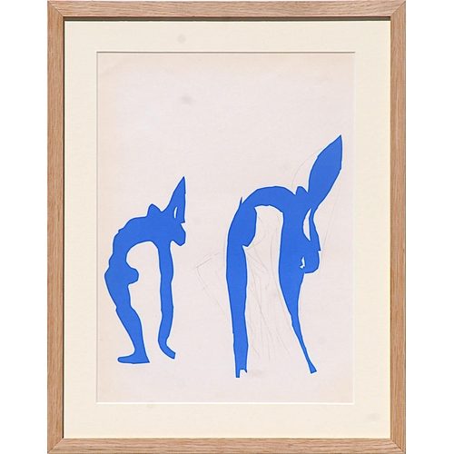 HENRI MATISSE 'Acrobates', original lithograph from the 1954 edition after the cut outs, printed by Mourlot, 36cm x 25cm, framed and glazed.