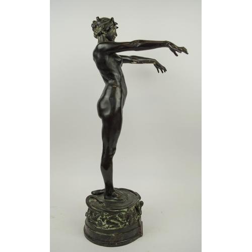 392 - BRONZE SCULPTURE, by Sir Edgar Bertram Mackennal (1863-1931), 'Circe' the Sorceress signed and inscr...