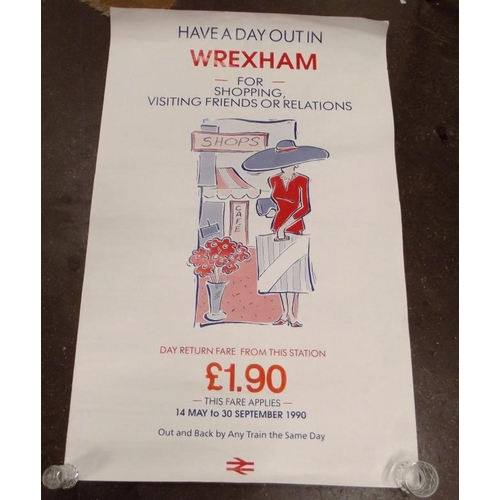 36 - 1990 British Rail poster - Have A Day Out In Wrexham....