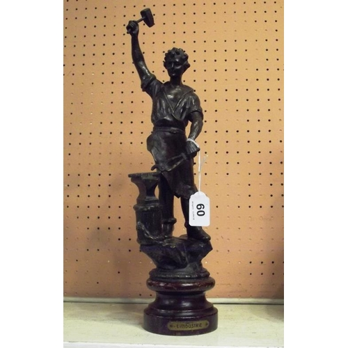 60 - French spelter figure, L'Industrie....