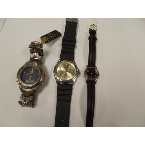 6 - Philip Persio gents wristwatch, in box, and two others....