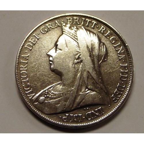 12 - Silver Victorian Crown 1900....