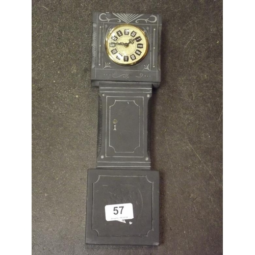 57 - Slate 'grandfather' clock....