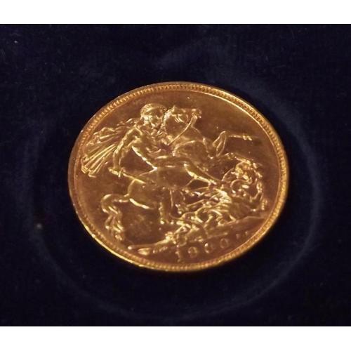 8 - Queen Victoria full sovereign, 1900....