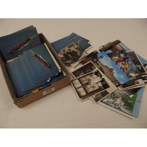 28 - Various cards, postcards, etc....