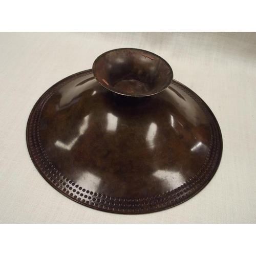 46 - Circular metal fruit bowl....