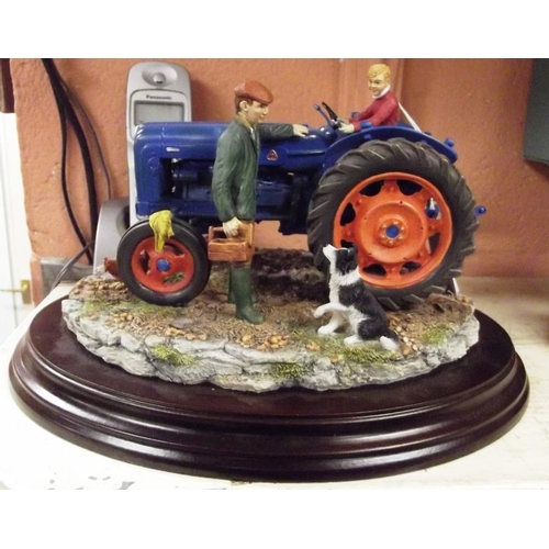 28 - Country Artists resin Country Legacy figure, Fordson Super Major E1A 'Job's Done', by Keith Sherwin,...