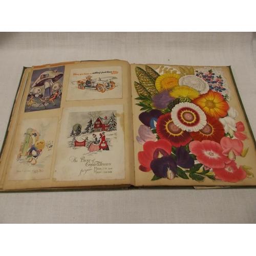 33 - Ornately bound Victorian scrapbook....