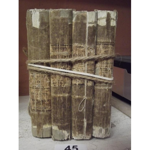 45 - Set of four antique volumes, History of England....