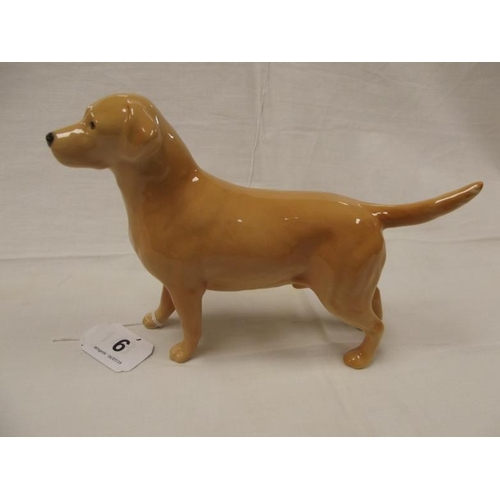 6 - Beswick Labrador 'Solomon of Wendover', golden yellow colourway, model no. 1548....