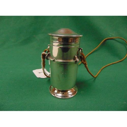 1 - George V silver Viaticum of cylindrical form, maker A.R Mowbray Ltd, London 1934, Rd. 774502, 4
