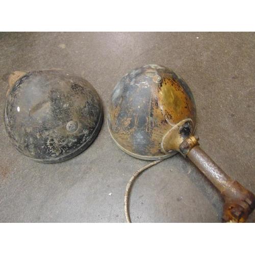 35 - Two vintage Lucas electric car lamps....