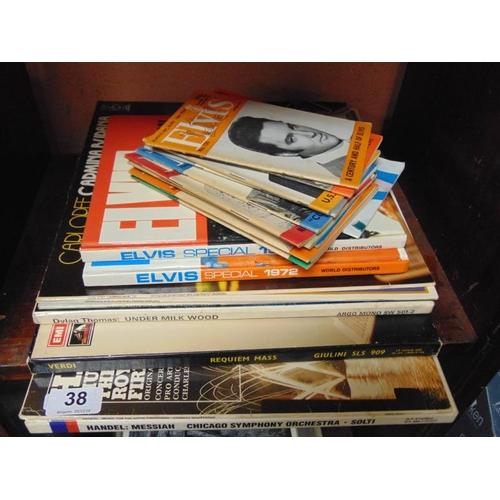 38 - Various Elvis publications, etc....