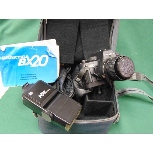 41 - Praktica BX20 SLR camera in case with accessories....