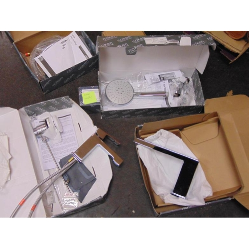 44 - Two Porcelanosa mixer taps with fittings, boxed and unused....