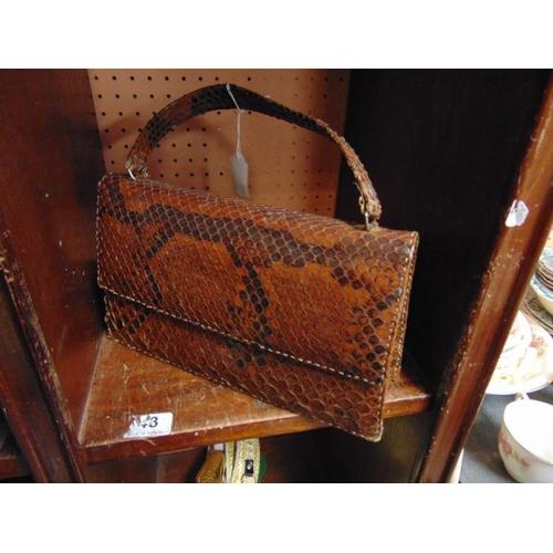 47 - Vintage Snakeskin handbag (purchased in Alexandria in 1967)....