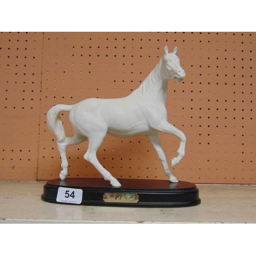54 - Royal Doulton horse on base 'Spirit of the Wind', with similar foal....